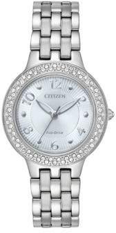 Citizen Eco-Drive Swarovski Crsytal Polished Stainless Steel Bracelet Watch
