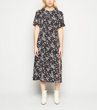 New Look Petite Floral Split Side Midi Dress