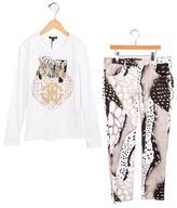 Roberto Cavalli Girls' Printed Pant Set w/ Tags