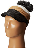 BCBGMAXAZRIA Striped Pom Pom Hat