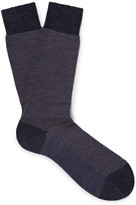 Pantherella - Blenheim Birdseye Merino Wool-blend Socks