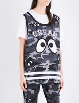 Mini Cream Camouflage-print cotton-jersey T-shirt