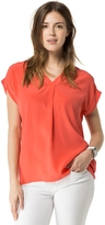 Tommy Hilfiger Final Sale-Short Sleeve Silk Tunic