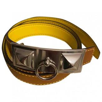 Hermes Collier de chien Yellow Leather Belts