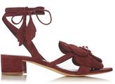 Olgana Paris Dahlia floral-detail suede block-heel sandals