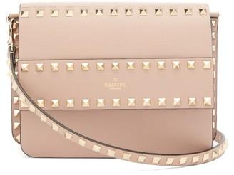Valentino Rockstud Leather Cross-body Bag - Womens - Nude