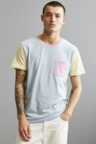Urban Outfitters Standard Fit Colorblock Pocket Tee
