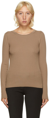 S Max Mara Brown Wool Mattia Crewneck Sweater