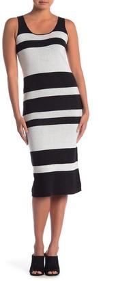 Catherine Malandrino Sleeveless Scoop Neck Stripe Sweater Dress