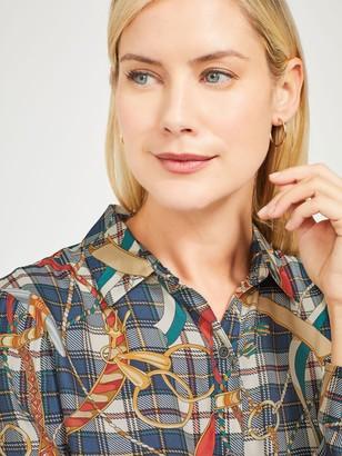 J.Mclaughlin Lois Silk Shirt in Sinclair Saddle