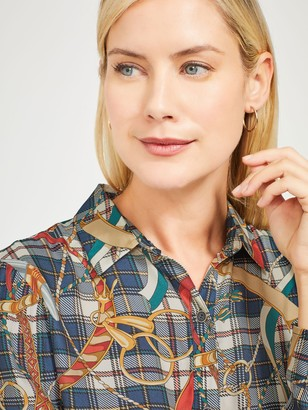 J.Mclaughlin Lois Silk Shirt in Toy Soldiers