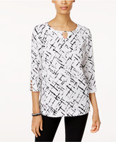 JM Collection Embellished Keyhole Tunic, Only at Macy's