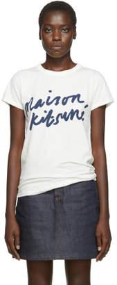 MAISON KITSUNÉ Off-White Handwriting T-Shirt