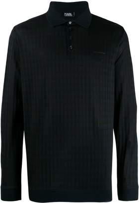Karl Lagerfeld Paris long sleeved polo shirt