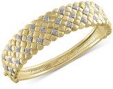 Effy D'Oro by Diamond Weave Bangle Bracelet (5/8 ct. t.w.) in 14k Gold