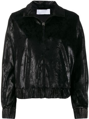NO KA 'OI Metallized Zip-Up Jacket