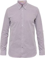 Ted Baker Nugate Geo Print Cotton Shirt