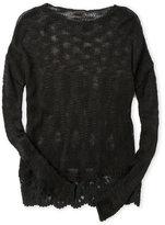 so nikki (Girls 7-16) Mesh Knit Lace Bottom Sweater