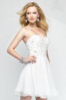 Alyce Paris - 3688 Short Dress In Diamond White