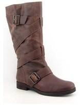 Pour La Victoire Rona Women Round Toe Leather Mid Calf Boot.