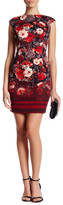 London Times Renaissance Floral Cap Sleeve Dress (Petite)