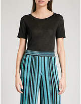 Missoni Metallic-knit woven T-shirt