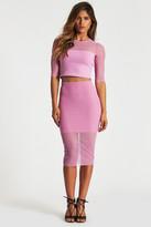 Donna Mizani Mesh Midi Skirt