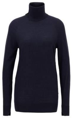 BOSS Virgin-wool sweater with high neckline