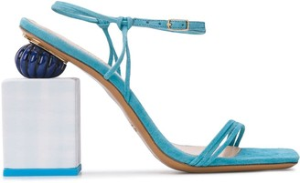 Jacquemus Sculpted Block Heel Sandals