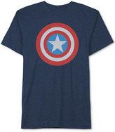 JEM Men's Marvel Captain America Shield T-Shirt