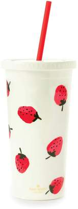 Kate Spade strawberries insulated tumbler