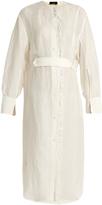 Joseph Eli fringe-trimmed linen-blend shirtdress
