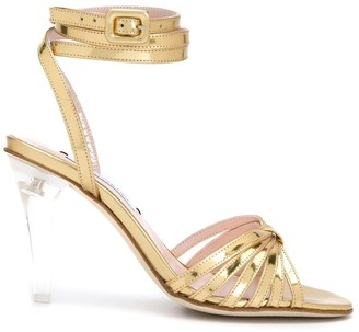 Leandra Medine Caged Heeled Sandals