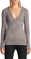 AllSaints Faria Wool Blend Two Way Jumper