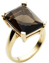 Jan Logan 9ct Smoky Quartz Sunset Ring