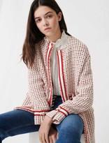 Maje Short preppy tweed-style coat