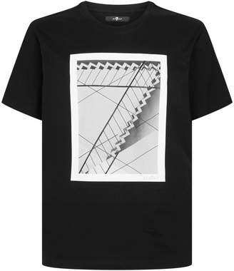 7 For All Mankind Staircase Graphic T-Shirt
