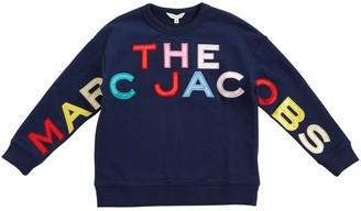 Little Marc Jacobs Logo Patch Cotton Sweatshirt