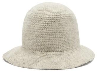 Reinhard Plank Hats - Knitted Wool Bucket Hat - White