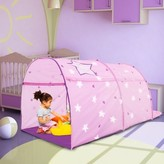 Bed Tent Canopy Kids Play Playhouse Privacy Twin Starlight Pink Pop Up by Alvantor