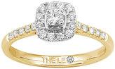 Leo Diamond 18ct gold 1/3ct I-I1 diamond cushion halo ring