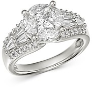 Bloomingdale's Fancy-Cut Diamond Statement Ring in 18K White Gold, 1.85 ct. t.w. - 100% Exclusive