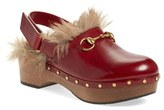 Gucci Women's 'Amstel' Genuine Kangaroo Fur Clog