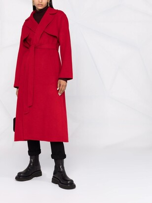 P.A.R.O.S.H. Belted-Waist Wool Coat