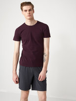 Frank + Oak Crewneck Pocket T-Shirt in Plum