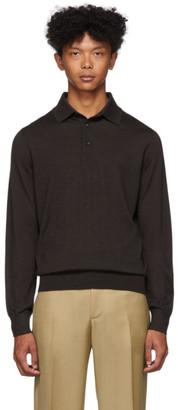 Ermenegildo Zegna Brown Silk and Cashmere Polo