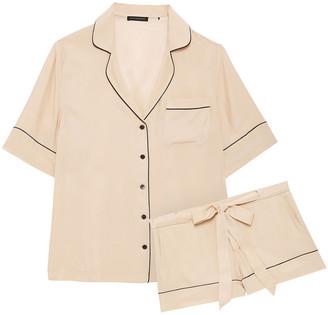Kiki de Montparnasse Silk-satin Crepe Pajama Set