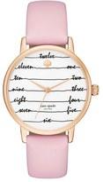 Kate Spade Women's 'Metro - Chalkboard' Leather Strap Watch, 34Mm