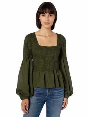Parker Women's Dara Long Sleeve Smocked Blouse