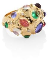Temple St. Clair Cosmos Bombe Diamond, Semi-Precious Multi-Stone & 18K Yellow Gold Ring